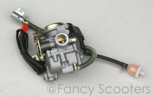 PART09M054: High Performance GY6 50cc/60cc Carburetor with Float Bowl Drain Line (PD19J)
