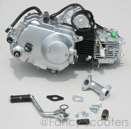 PART01012: 110cc 4-stroke Lonci Whole Engine (4 Gears with Clutch, Starter on Top) for FB539C (X-15), FB549C (X-19)